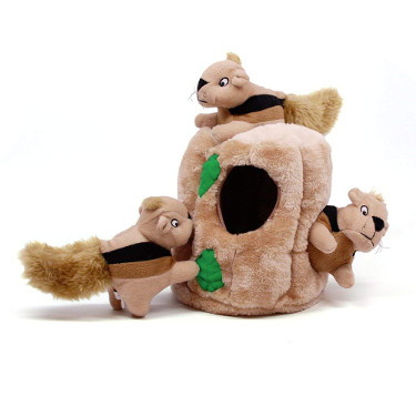 Outward Hound Hide-a-Squirrel Interactive Plush Toy